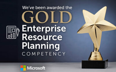848 achieve Gold in Enterprise Resource Planning (ERP) Microsoft competency