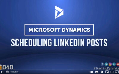 #TeachingDynamics​: How to easily schedule posts and content on social media using Dynamics 365.