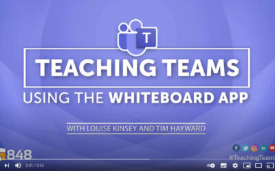 #TeachingTeams​: How to use collaborate and share ideas using the Whiteboard app on Microsoft Teams.