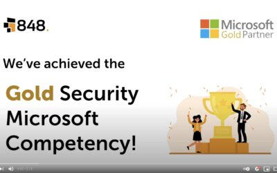 848 has been awarded the Microsoft Gold Security Competency – what does this mean for our clients?